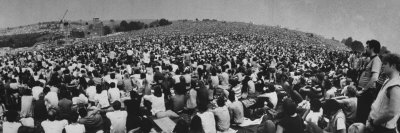 Audience at Woodstock Music Festival Photographic Print by John Dominis