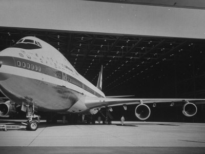 Boeing 747, the World's Largest and Fastest Jetliner at the Boeing Manufacturing Plant Photographic Print