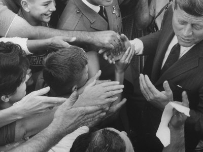 John F. Kennedy During His Campaign Tour Photographic Print