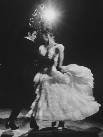 Ballet Espanol Couple Dancing at Charity Ball Photographic Print