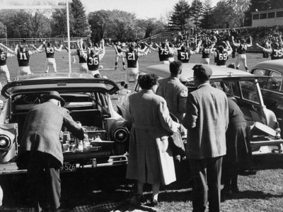 Tailgate Picnic for Spectators at Amherst College Prior to Football Game Photographic Print