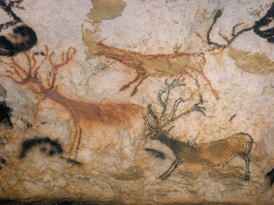 20,000 Year Old Lascaux Cave Painting Done by Cro-Magnon Man in the Dordogne Region, France Photographic Print by Ralph Morse