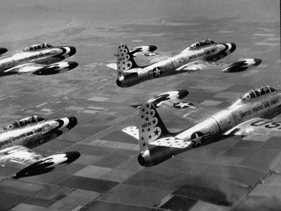 F84 Planes Flying in Formation Photographic Print by J. R. Eyerman