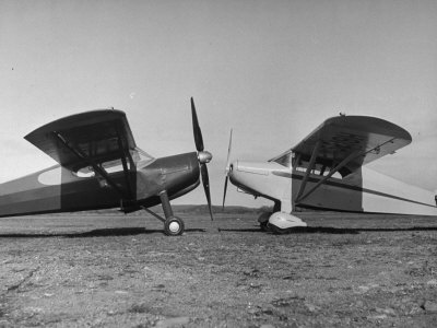 The Helioplane's Big 9 Foot Propeller Is Shown with Conventional 6 Foot Porpeller Photographic Print by Yale Joel