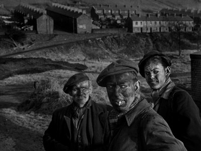 Welsh Coal Miners Photographic Print