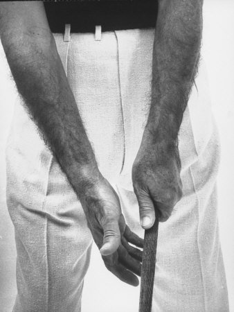 Ben Hogan, Close Up of Hands Grasping Club Photographic Print by Yale Joel