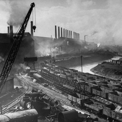 Exterior of Peech and Tozer Steel Mill Photographic Print