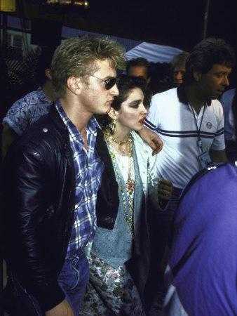 Singer Madonna and Husband, Actor Sean Penn Metal Print by David Mcgough