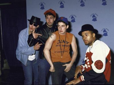 Rap Group the Beastie Boys Adam Horovitz, Adam Yauch, and Mike Diamond with Dj Hurricane Metal Print