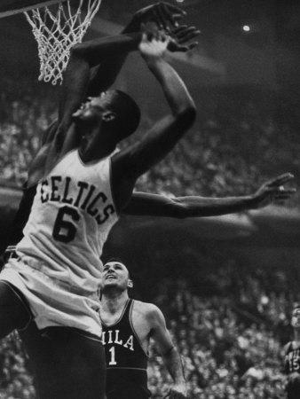 Basketball Player Bill Russell Kunst på metal