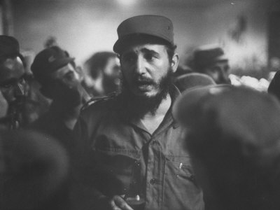 Rebel Leader Fidel Castro During His Victorious March to Havana Metal Print