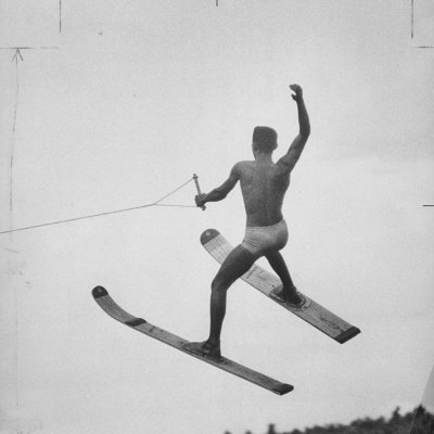 a Water Skier Performing in the National Water Skiing Championship Photographic Print by Ralph Morse