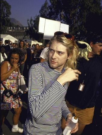 Front Man of Rock Group Nirvana Kurt Cobain Metal Print