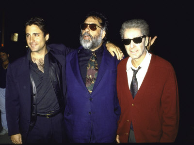 """Actor Andy Garcia, Director Francis Ford Coppola and Actor Al Pacino at Premiere of """"Godfather 3"""" Metal Print"""