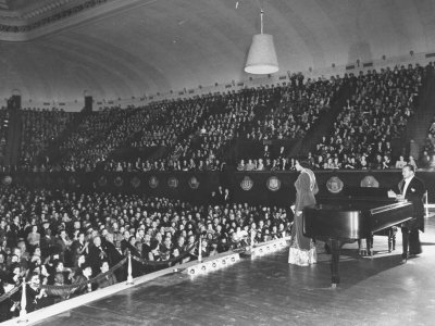 Marian Anderson Performing at the Dar Constitution Hall Metal Print