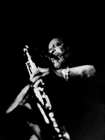 Jazz Musician, Gene Ammons Playing Saxophone Premium Photographic Print