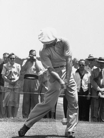Ben Hogan Hitting a Golf Ball Premium Photographic Print by John Dominis