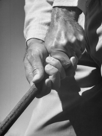 Golfer Ben Hogan Demonstrating Strong Grip for Woods and Irons Metal Print by Martha Holmes