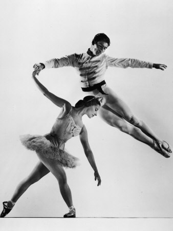 "Alicia Alonso and Igor Youskevitch in the American Ballet Theater Production of ""Nutcracker"" Metal Print by Gjon Mili"