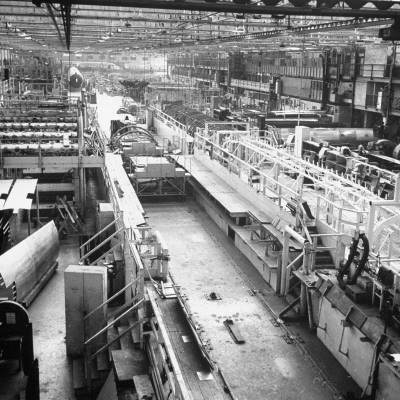 Douglas Aircrafts' Main Assembly Line Premium Photographic Print by John Florea