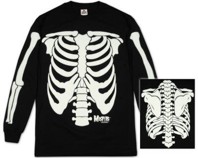 Long Sleeve: The Misfits - Glow in the Dark Skeleton Long Sleeves