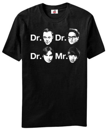 Big Bang Theory - Dr. & Mr. Faces T-Shirt
