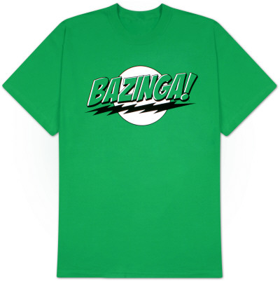 Big Bang Theory - Bazinga Green Lantern Colors T-Shirt
