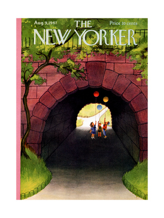 The New Yorker Cover - August 9, 1947 Giclée-Druck von Edna Eicke