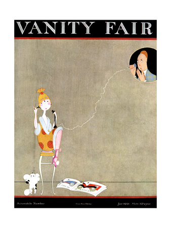 Vanity Fair Cover - January 1921 Giclee Print by A. H. Fish