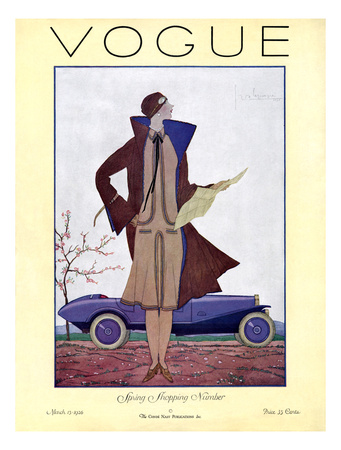 Vogue Cover - March 1926 Giclee Print by Georges Lepape