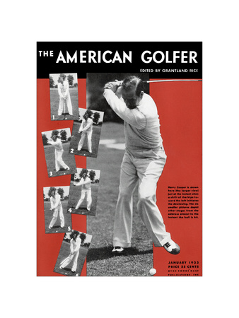 The American Golfer January 1933 Giclee Print