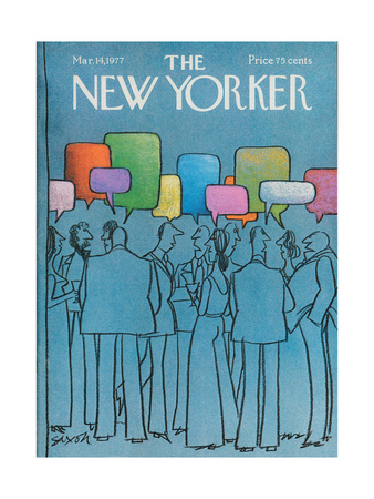 The New Yorker Cover - March 14, 1977 Giclee Print by Charles Saxon