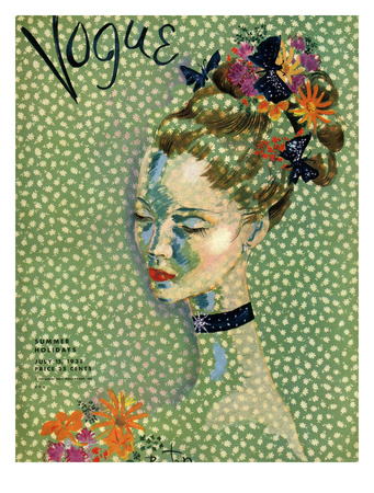 Vogue Cover - July 1935 Giclee Print by Cecil Beaton
