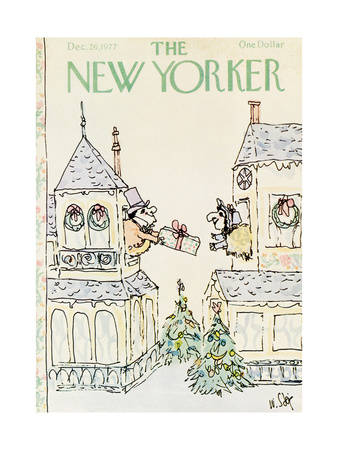 The New Yorker Cover - December 26, 1977 Giclee Print by William Steig