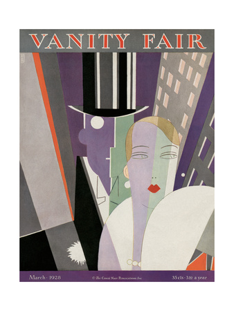 Vanity Fair Cover - March 1928 Giclee Print by Eduardo Garcia Benito