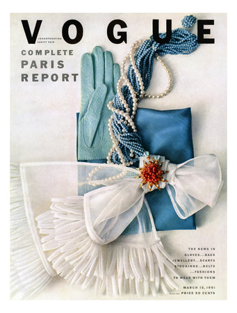 Vogue Cover - March 1951 - Got the Blues Giclee Print by Richard Rutledge