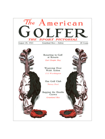 The American Golfer August 25, 1923 Giclee Print by James Montgomery Flagg