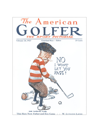 The American Golfer February 24, 1923 Giclee Print by James Montgomery Flagg
