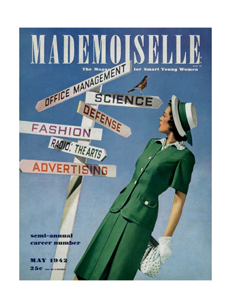Mademoiselle Cover - May 1942 Giclee Print by Luis Lemus