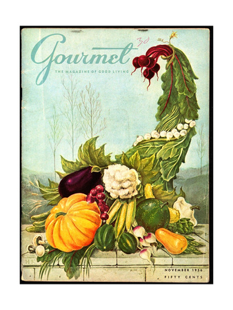 Gourmet Cover - November 1956 Giclee Print by Hilary Knight