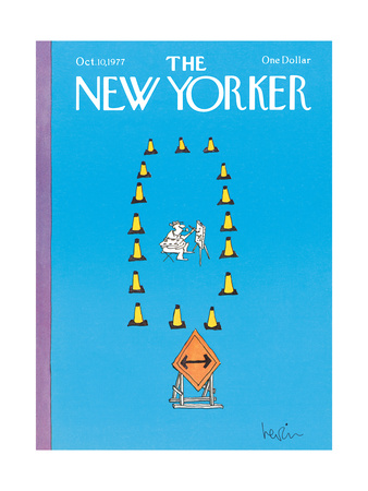 The New Yorker Cover - October 10, 1977 Giclee Print by Arnie Levin