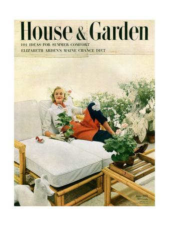 House & Garden Cover - June 1951 Giclee Print by Richard Rutledge