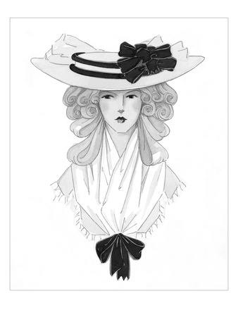 Vogue - October 1925 Giclee Print by Claire Avery