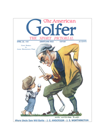 The American Golfer April 23, 1921 Giclee Print by James Montgomery Flagg