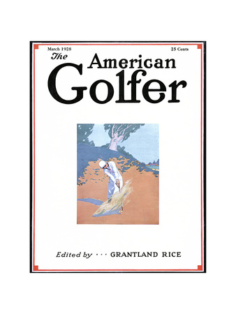 The American Golfer March 1928 Giclee Print