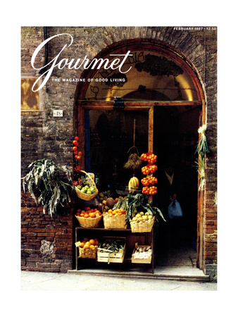 Gourmet Cover - February 1987 Giclee Print by Ronny Jacques