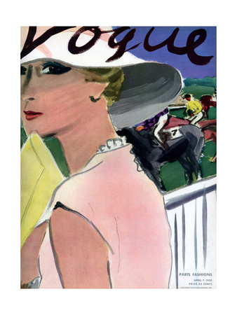 "Vogue Cover - April 1933 Giclee Print by Carl ""Eric"" Erickson"