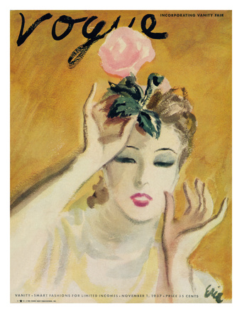 "Vogue Cover - November 1937 Giclee Print by Carl ""Eric"" Erickson"