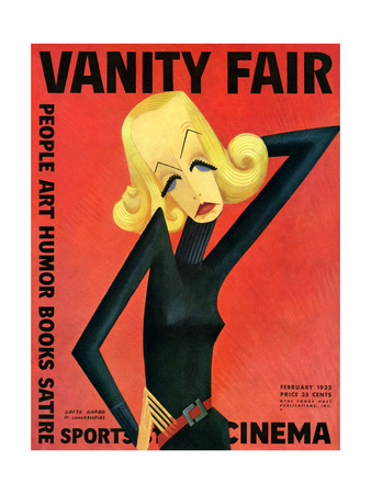 Vanity Fair Cover - February 1932 Giclee Print by Miguel Covarrubias