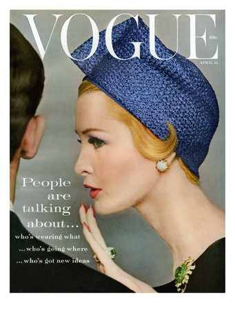 Vogue Cover - April 1959 - Talking Points Giclee Print by Richard Rutledge